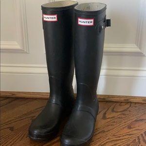 Hunter Boots Original Tall Boot US 6 Black Matte